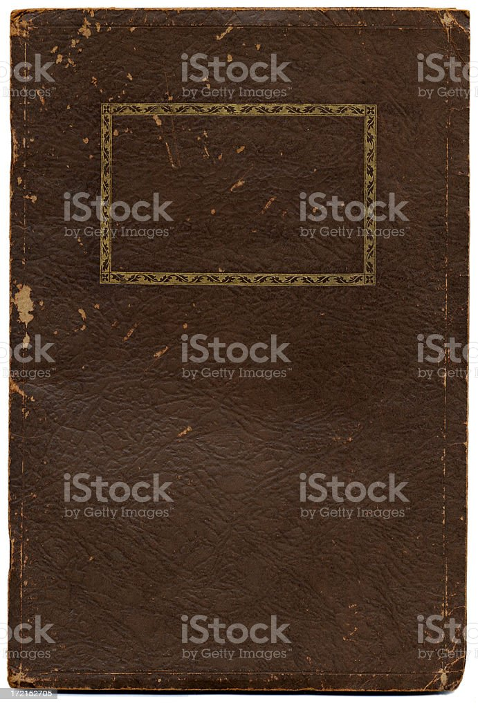 Old Notebook Cover royalty-free stock photo