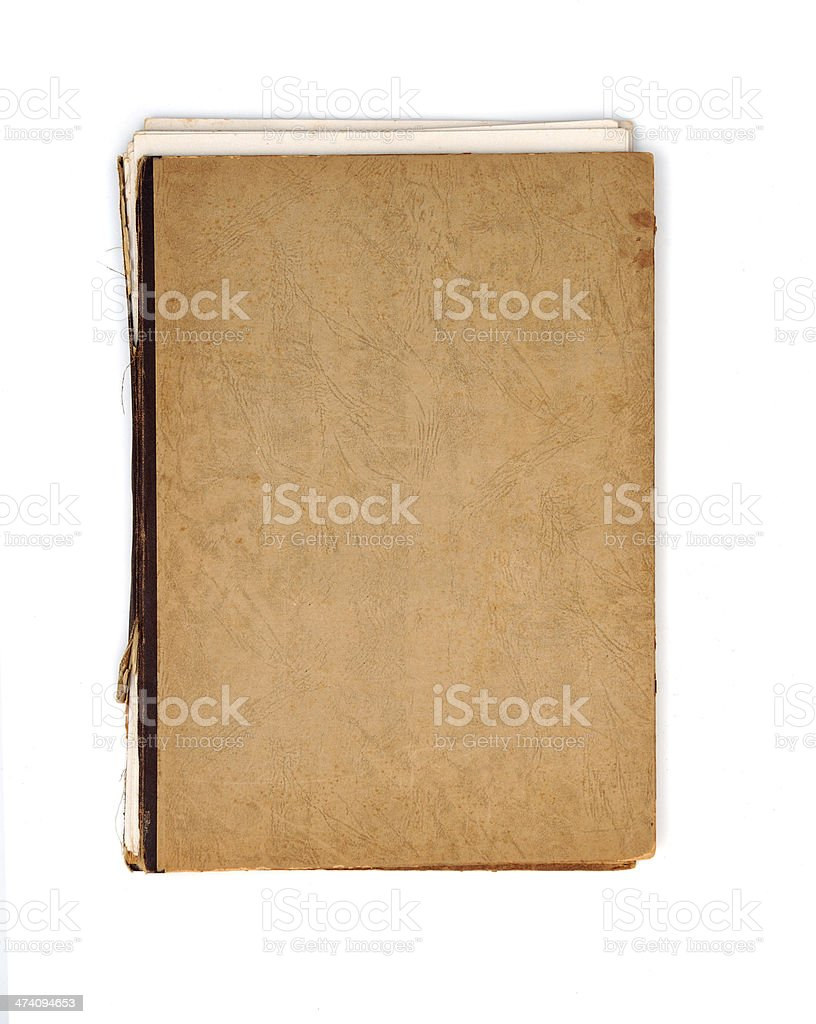 Old notebook cover stock photo