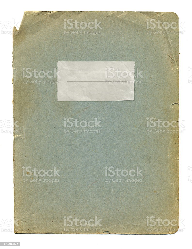 Old notebook covers royalty-free stock photo