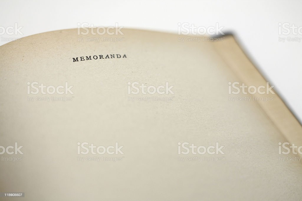 Old Notebook stock photo