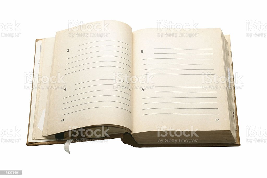 Old notebook with a place for text royalty-free stock photo