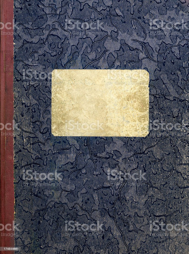 Old notebook's cover royalty-free stock photo