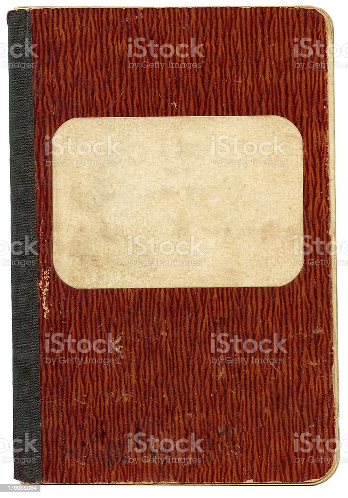Old notebook's cover. royalty-free stock photo