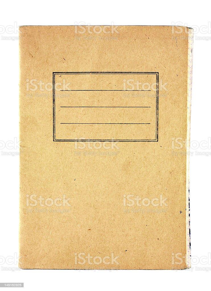 Old notebooks stock photo