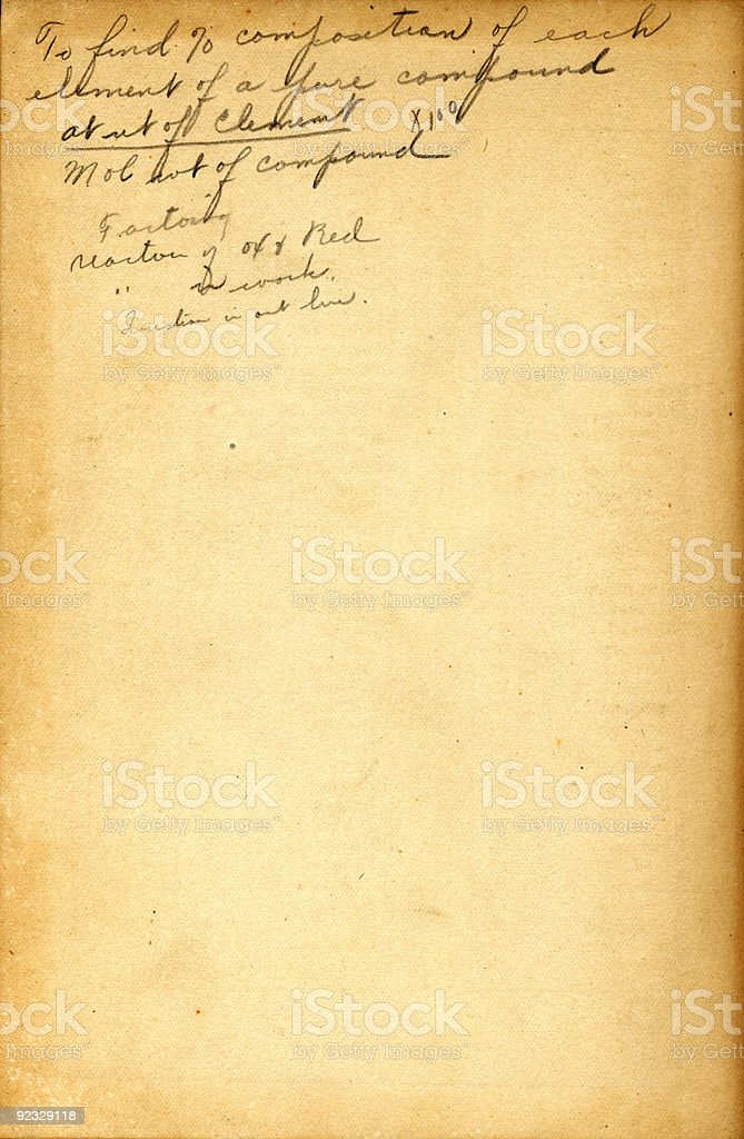 old notes royalty-free stock photo