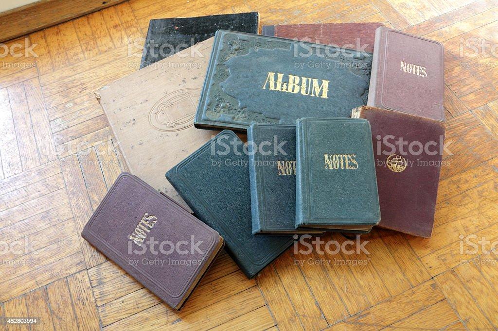 old notesbooks stock photo