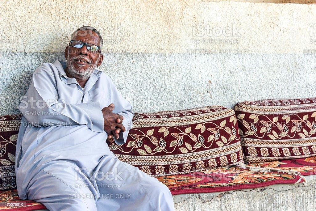 Old Nubian Man stock photo