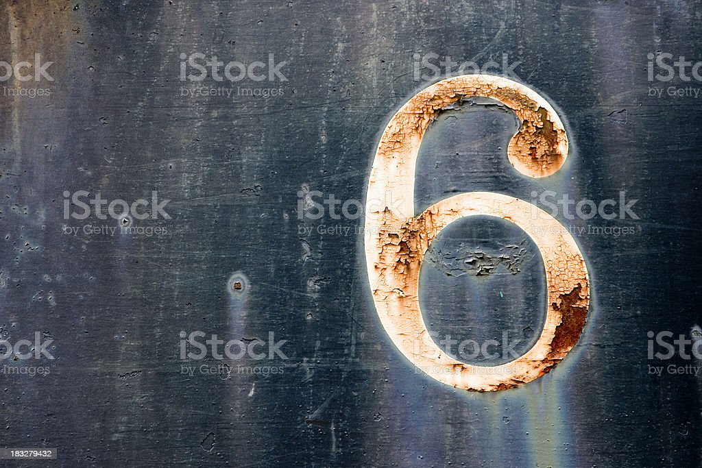 Old number six royalty-free stock photo