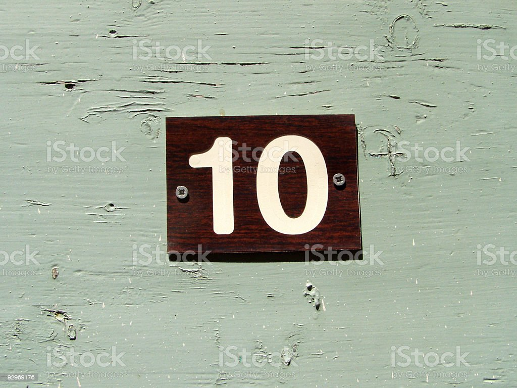 Old number ten sign royalty-free stock photo