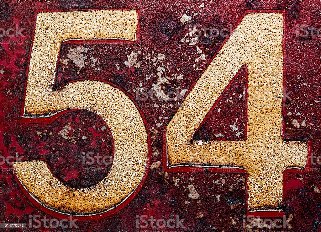 Old numbers stock photo