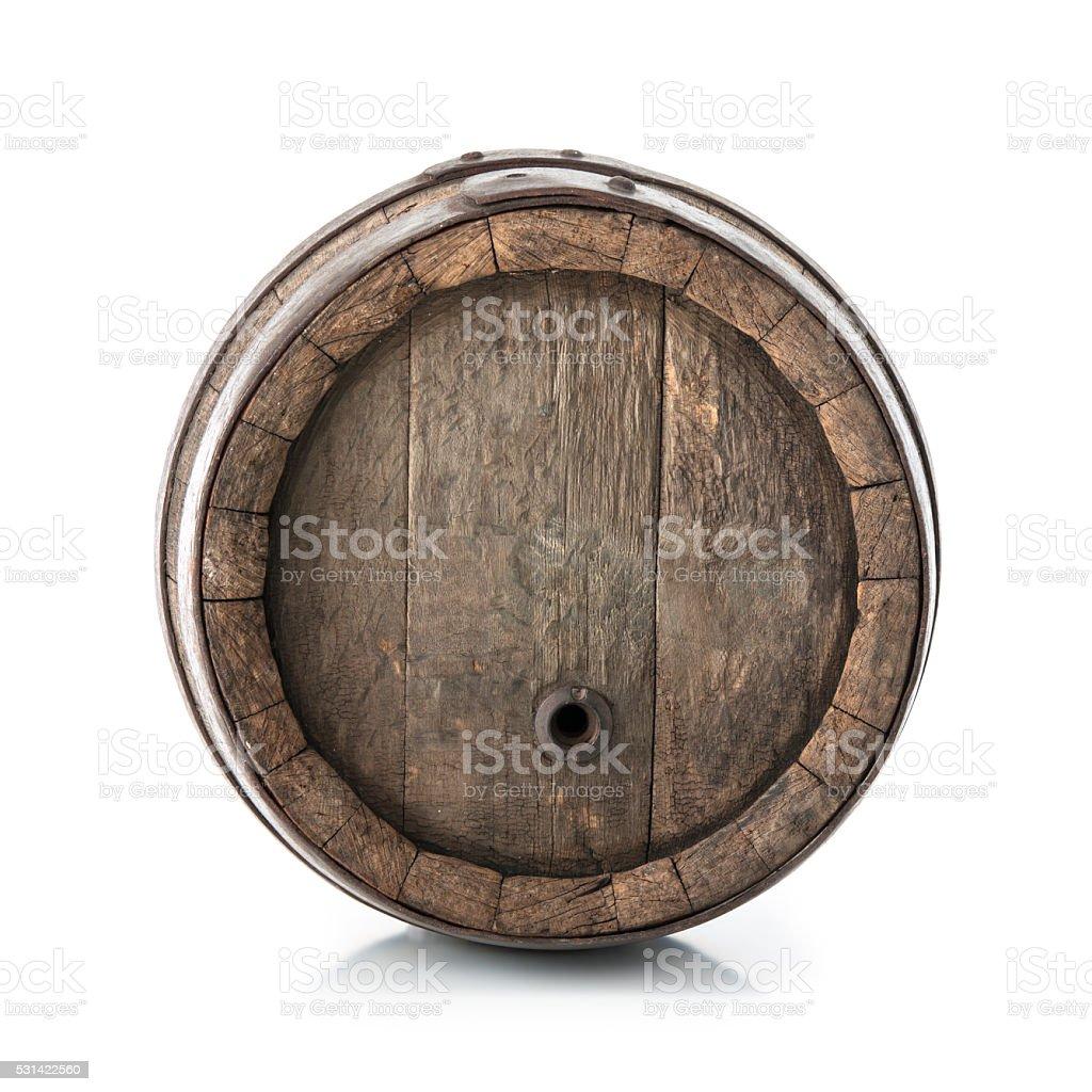 Old oak barrel stock photo
