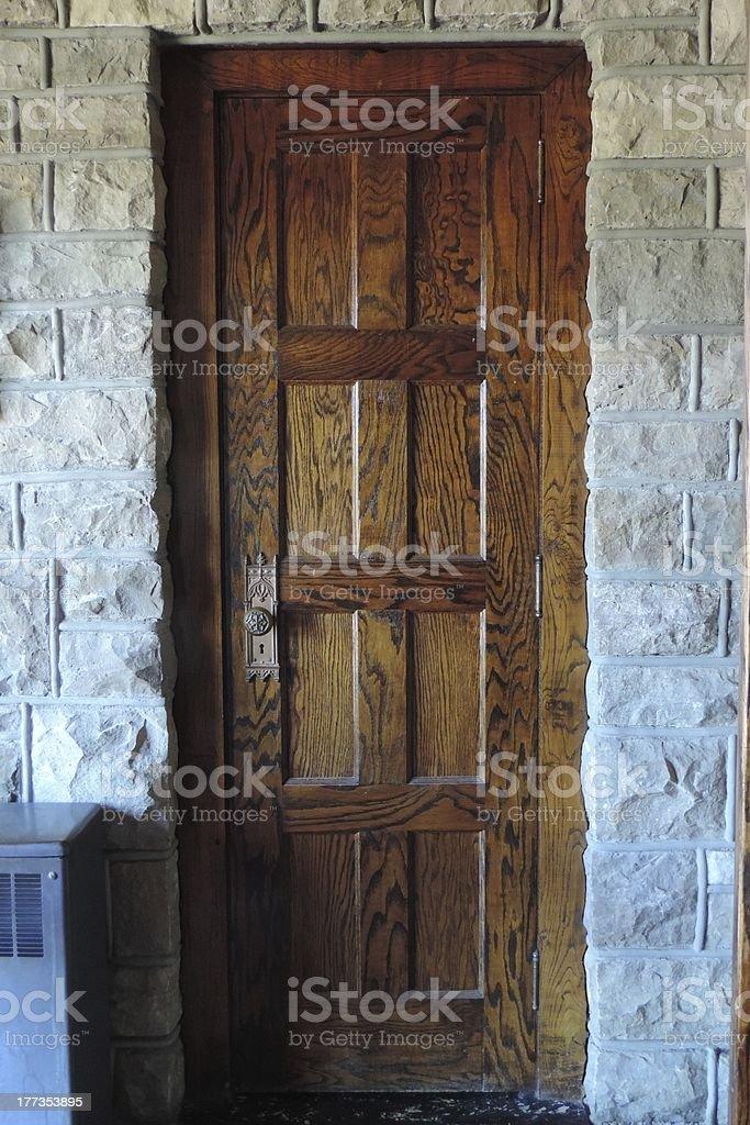 Old Oak Door stock photo