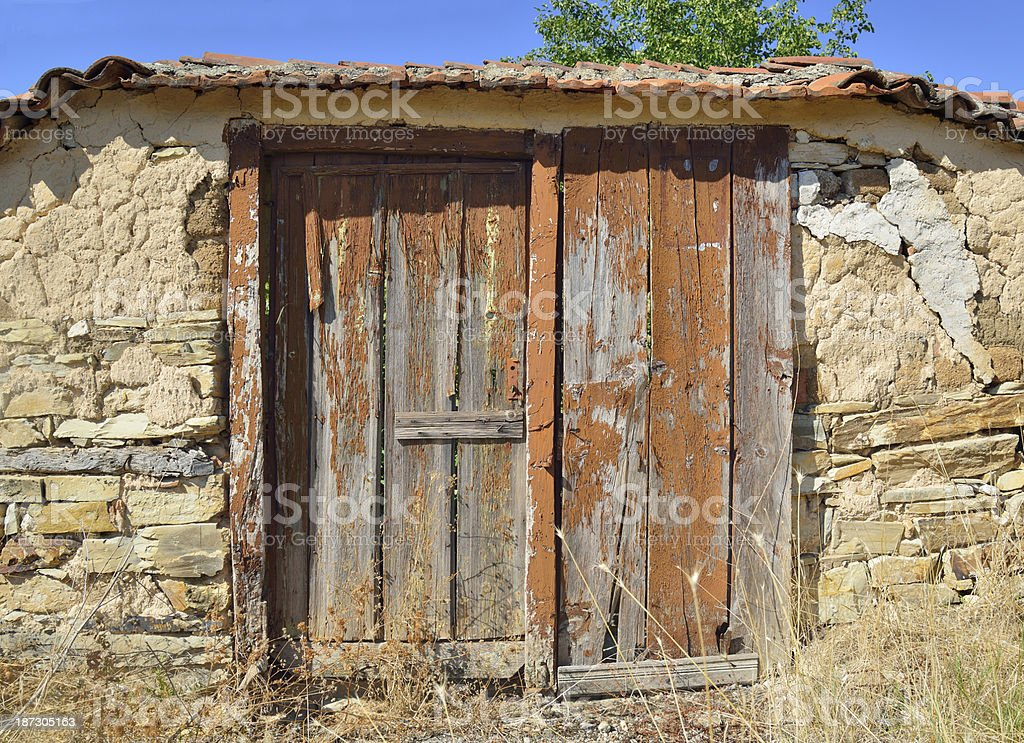 Old obsolete gate royalty-free stock photo