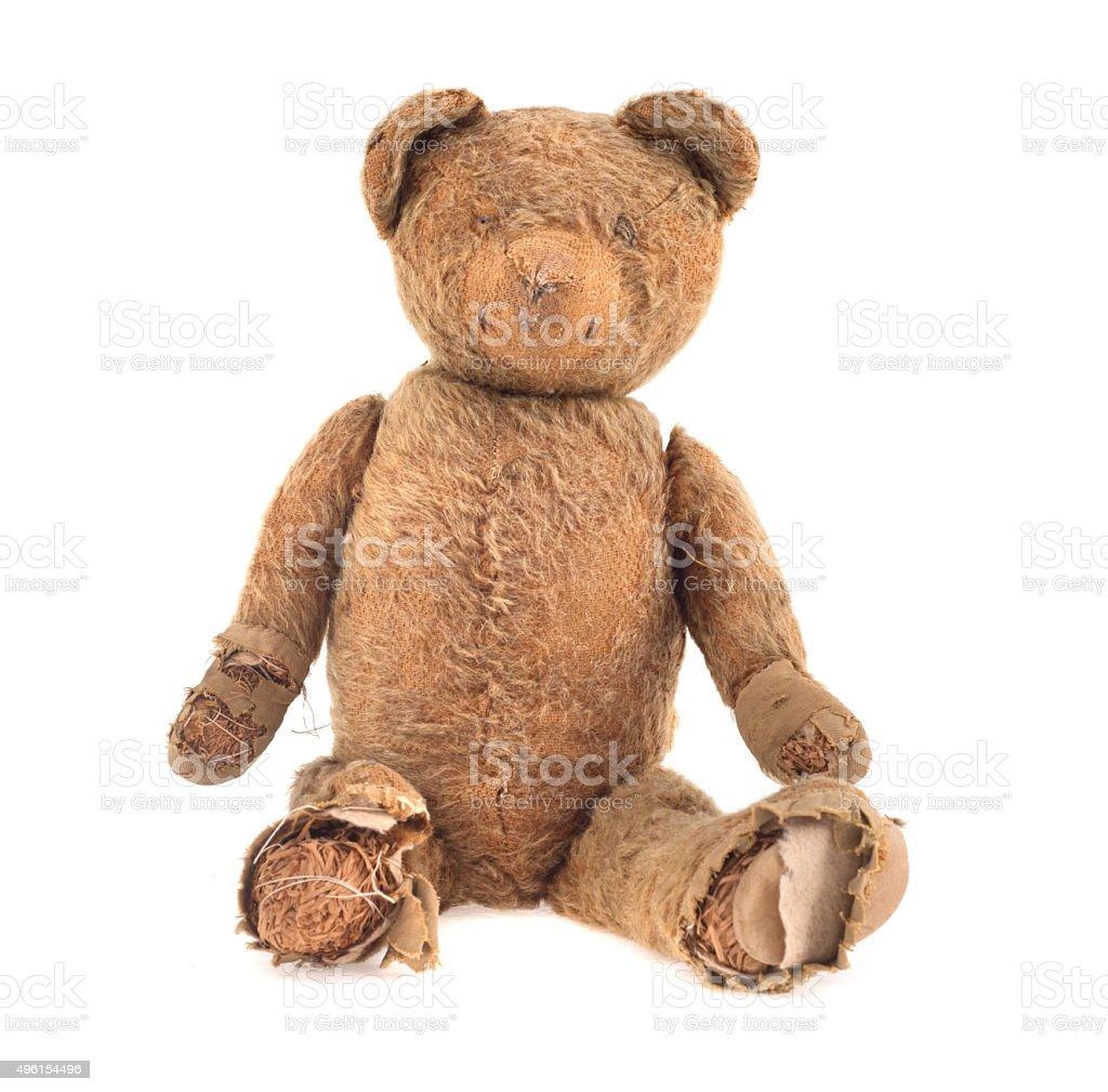 old obsolete handmade teddybear stock photo