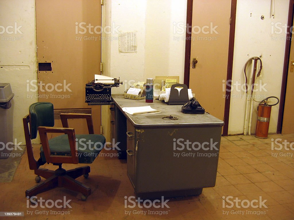 old office scene royalty-free stock photo