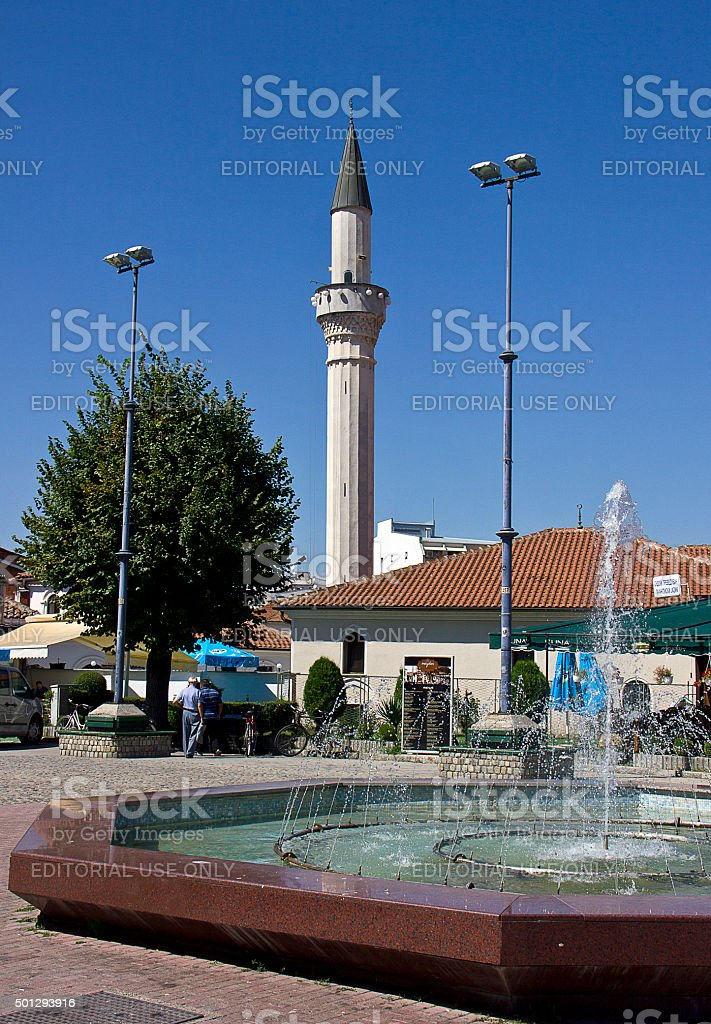 Old Ohrid's Bazaar stock photo