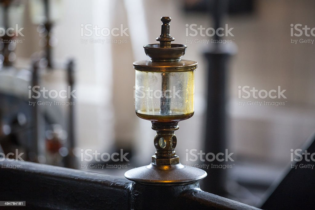 old oil cans of an steam engine royalty-free stock photo
