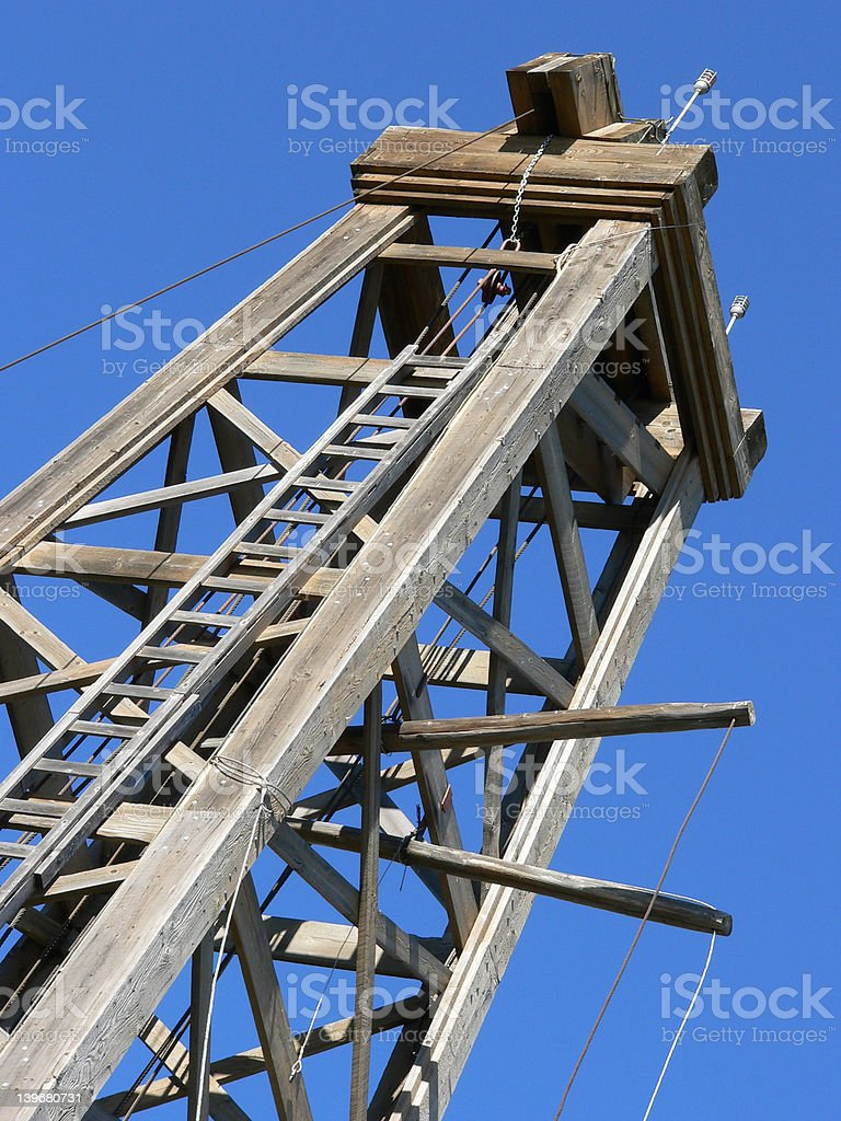 Old Oil Derrick royalty-free stock photo