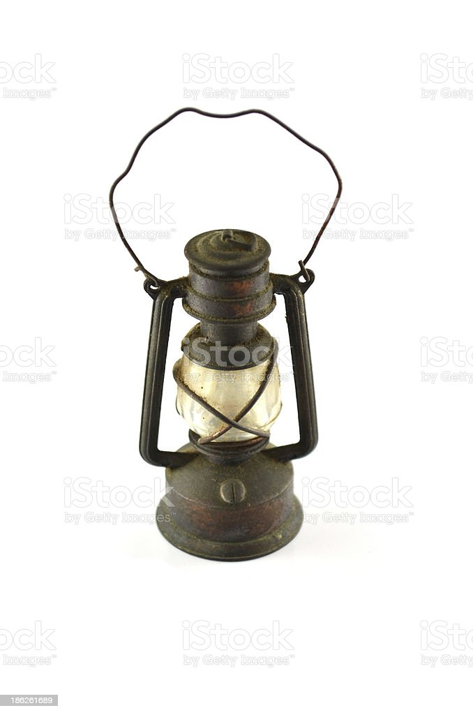 Old oil lamp close up stock photo
