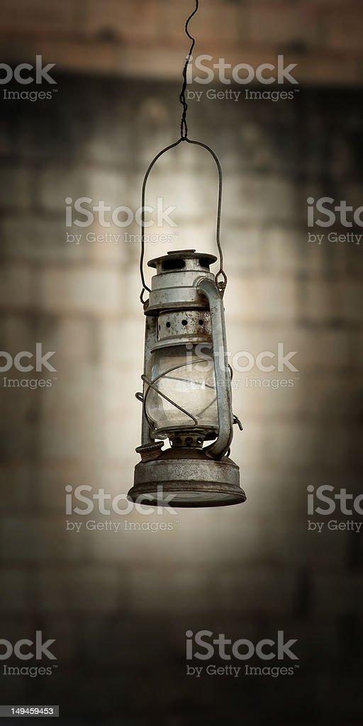 Old Oil Lantern royalty-free stock photo