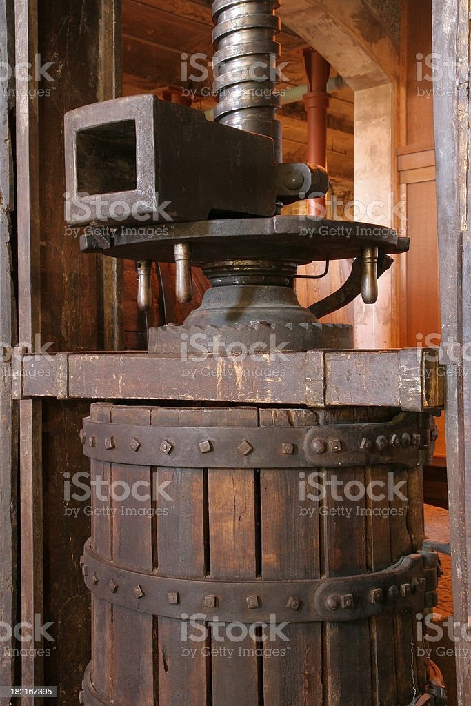 Old Olive Press stock photo