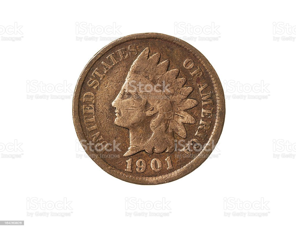 Old One Cent stock photo