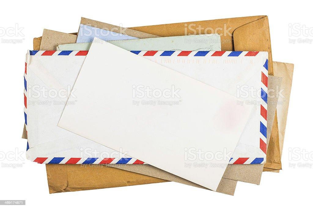 Old onvelopes stock photo