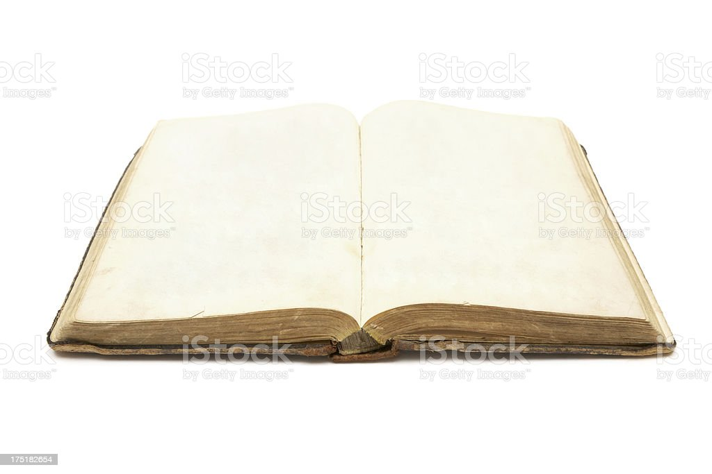 Old Open Blank Book royalty-free stock photo