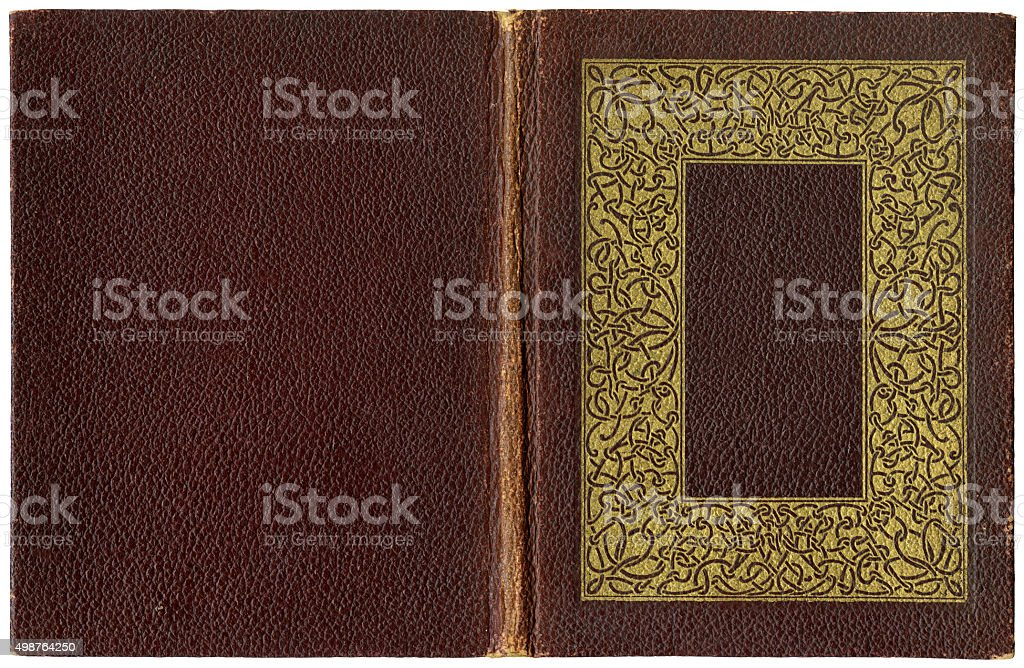 Old open book 1920 stock photo