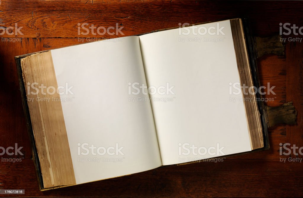 Old Open Book stock photo