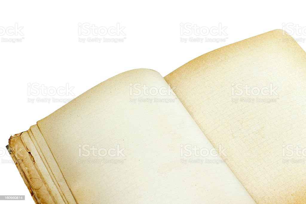 old open notebook close-up royalty-free stock photo