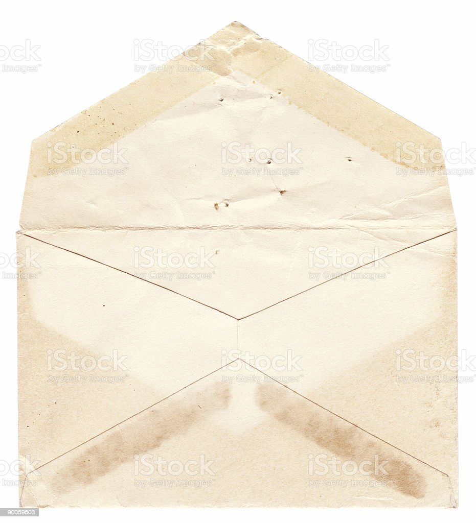 Old Opened Envelope stock photo