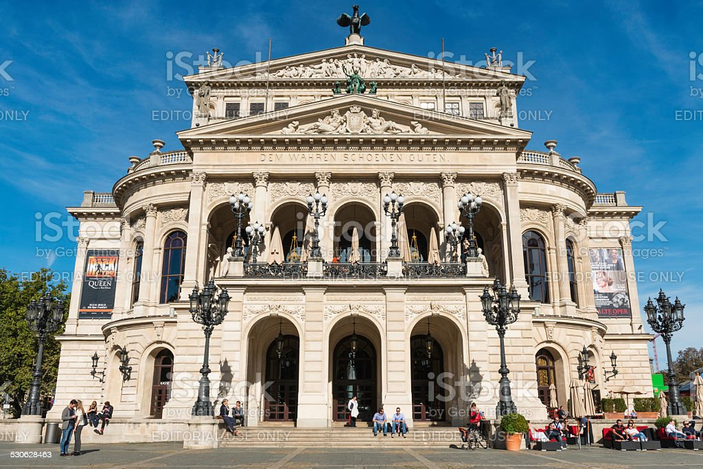 Old Opera House in Fankfurt, Germany stock photo
