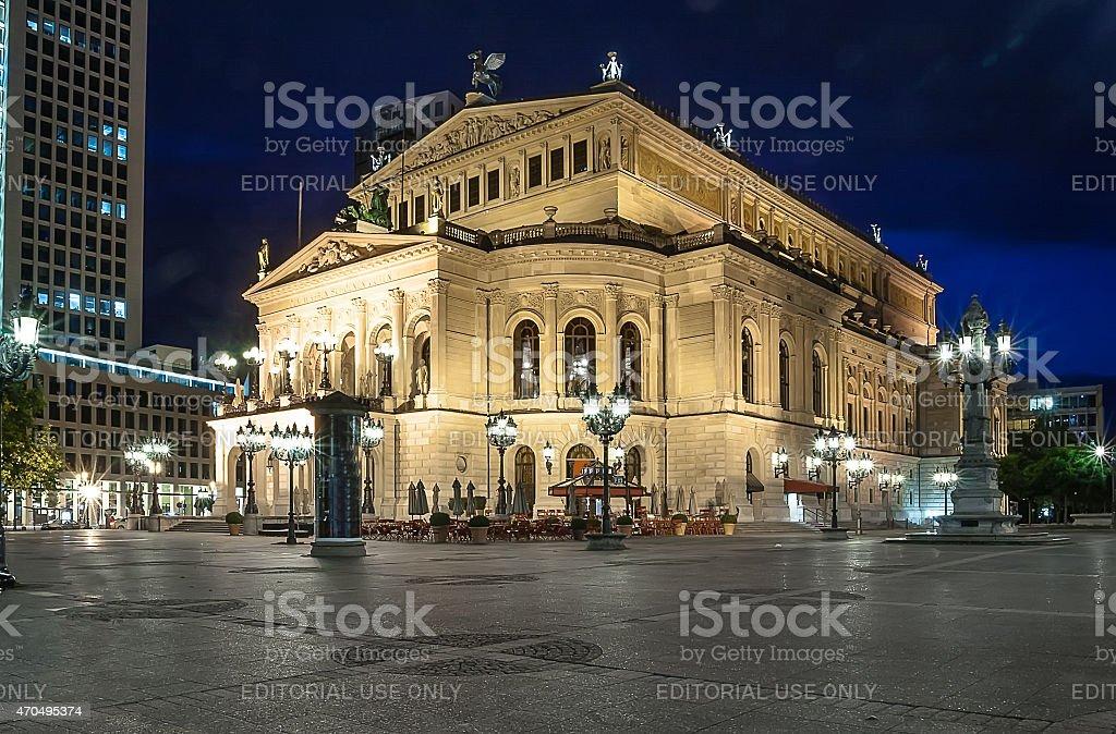 Old Opera House (Alte Oper) in Frankfurt am Main stock photo