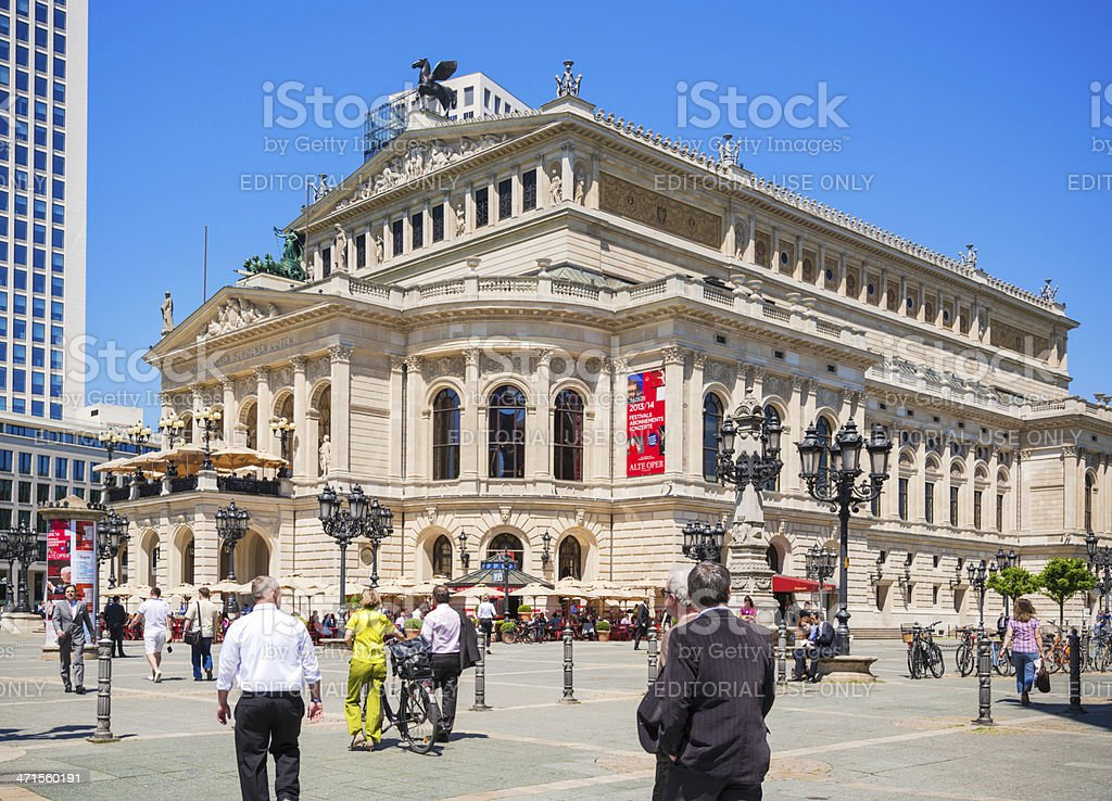 Old Opera House in Frankfurt am Main royalty-free stock photo