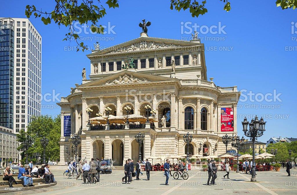 Old Opera House in Frankfurt am Main royalty-free stock photo