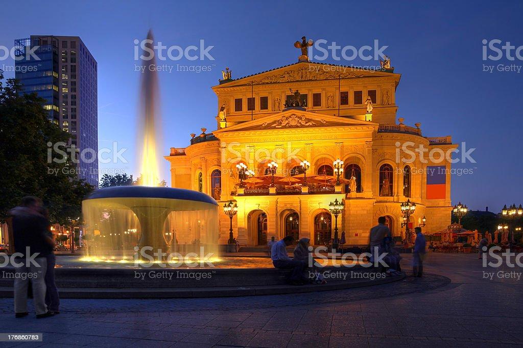 Old Opera House in Frankfurt, Germany stock photo
