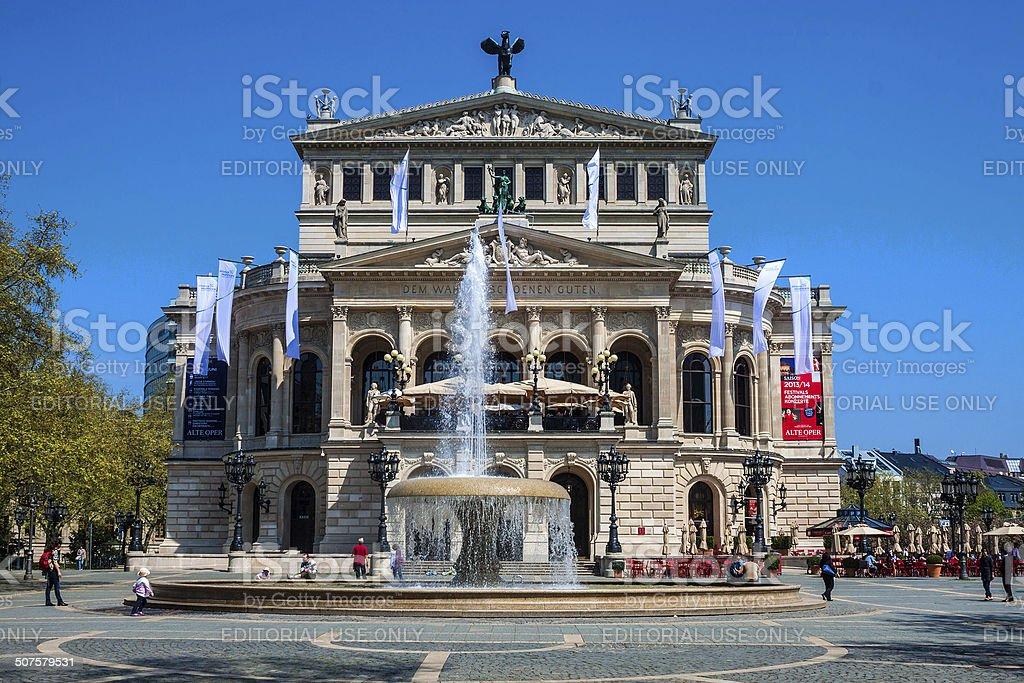 Old Opera in Frankfurt am Main stock photo