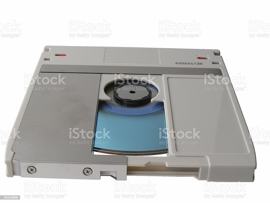 Old optical disk - open stock photo