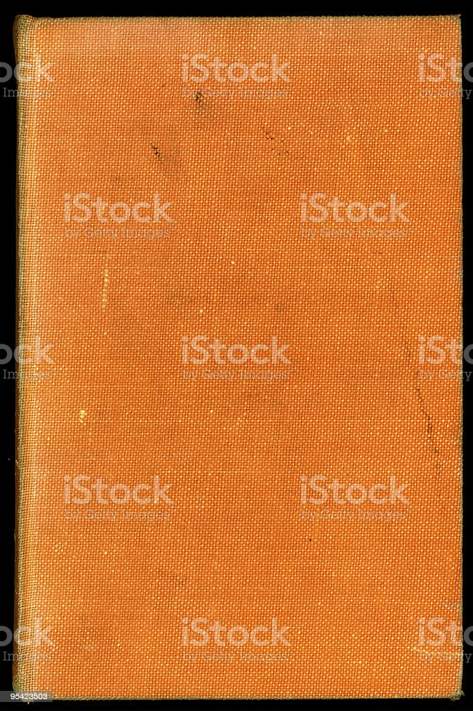 Old orange book cover stock photo