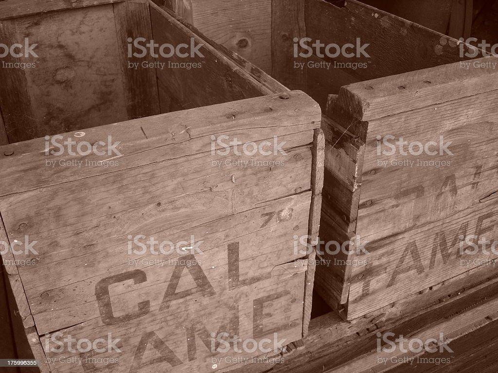 Old Orange Box royalty-free stock photo