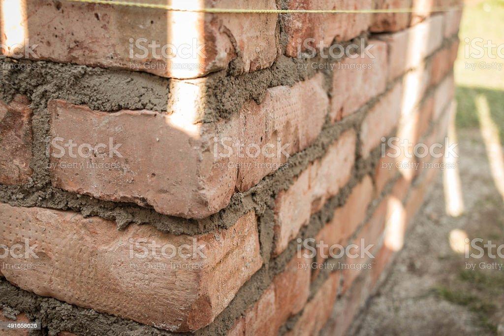 Old orange bricks stock photo