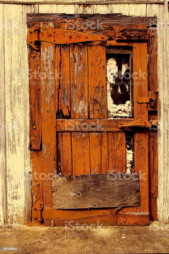 Old Orange Door royalty-free stock photo