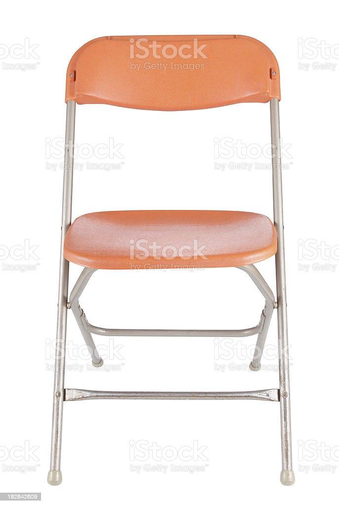 Old Orange Folding Chair stock photo
