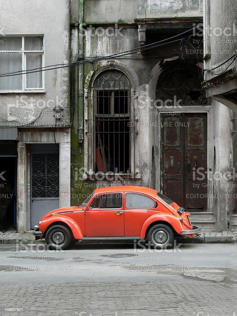 Old orange Volkswagen stock photo