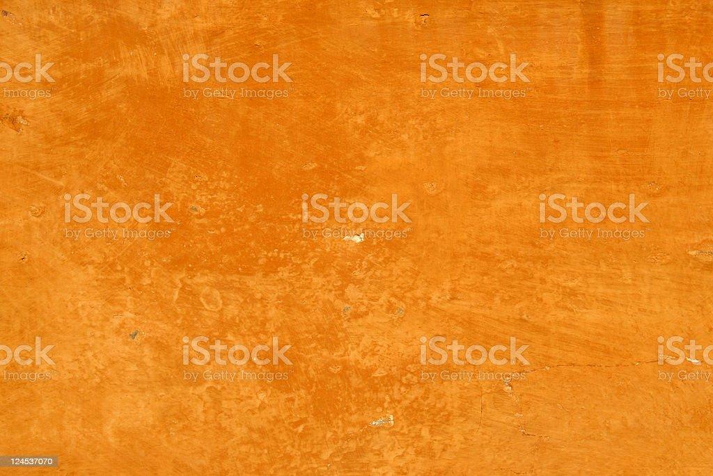 Old Orange Wall royalty-free stock photo