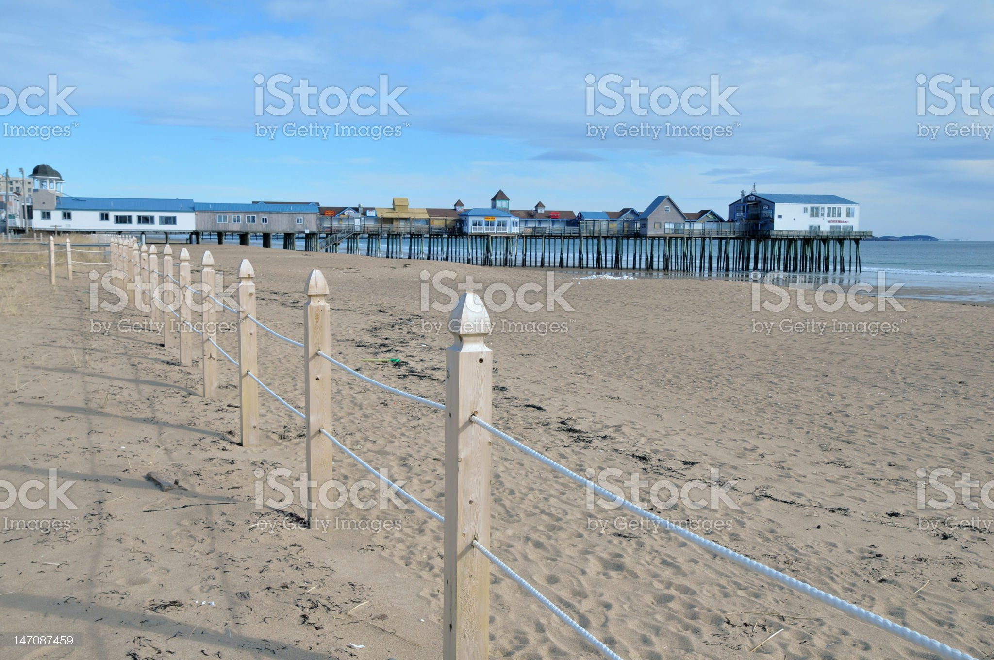 Old Orchard Beach royalty-free stock photo