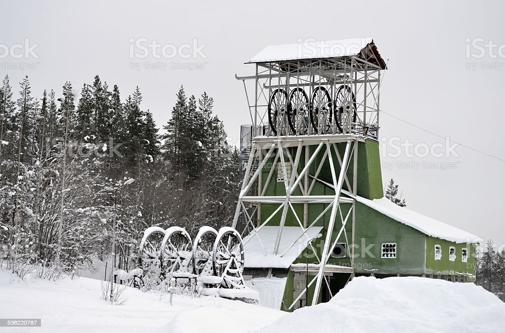 Old Ore Mine in Kiruna/Sweden stock photo