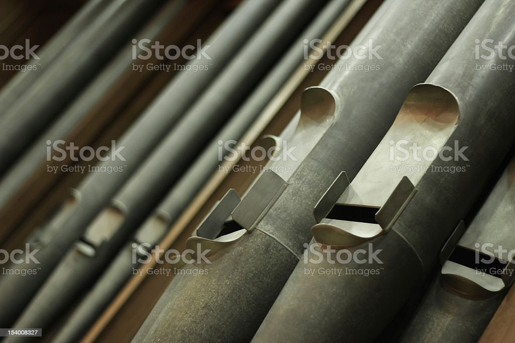 Old Organ Pipes stock photo