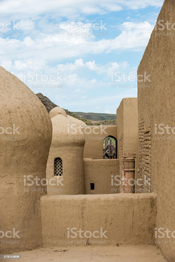 Old oriental antique fortress stock photo